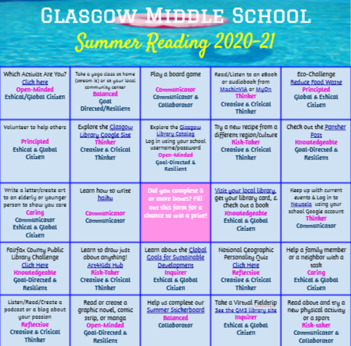 Glasgow Library to Host Summer Reading Challenge